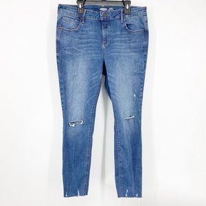 Old Navy Distressed Rockstar Super Skinny Jeans 12